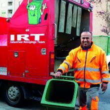 Steeds een propere afvalcontainer!
